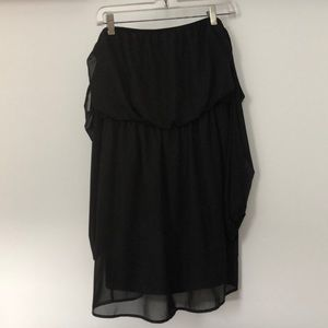 Dresses & Skirts - Open shoulder black long sleeve dress